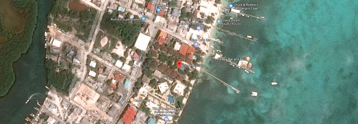 Paradise Villas Google Map